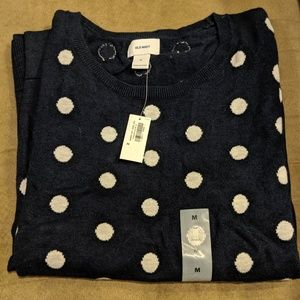 Navy and white medium sweater